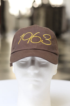 1963 Classic polo dad hat, brown