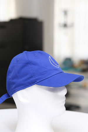 Crescent Moon polo dad hat, blue