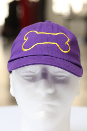 Dawg Bone polo dad hat, purple