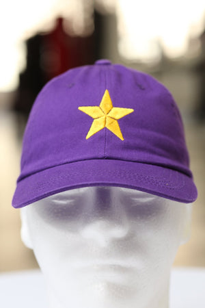 Star Dawg polo dad hat, purple