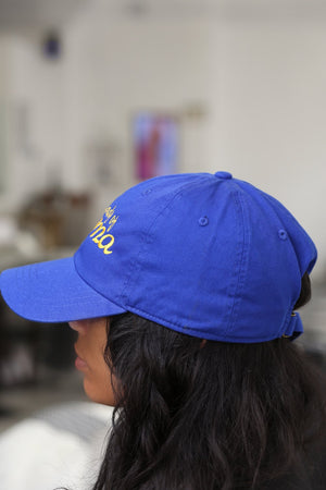 Lady Of Sigma polo dad hat, blue