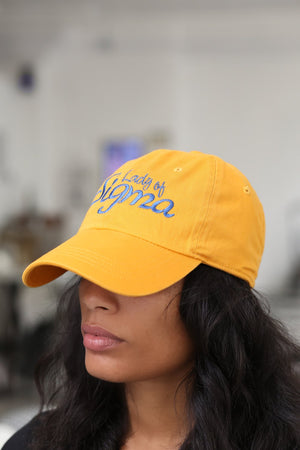 Lady Of Sigma polo dad hat, gold
