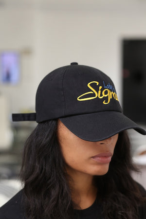 Lady Of Sigma polo dad hat, black