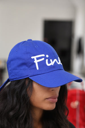 Finer polo dad hat, blue