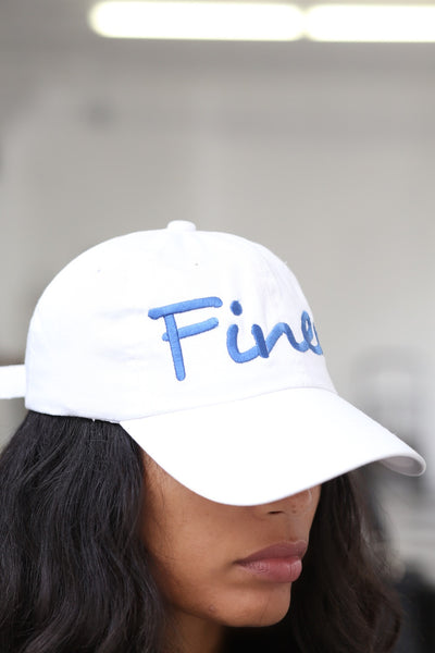 Finer polo dad hat, white