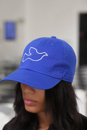 Dove of Peace polo dad hat, blue