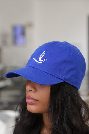 Peace Dove polo dad hat, blue