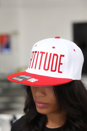 FORTITUDE snapback, white/red