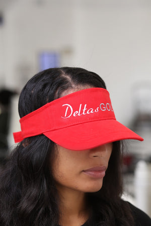 Deltas Golf visor, red