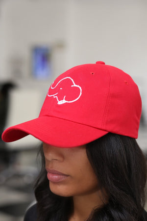 Trunks Up polo dad hat, red