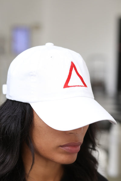 ∆ polo dad hat, white