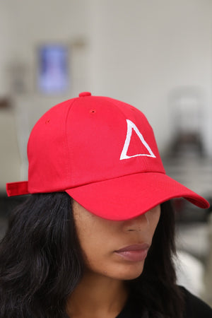 ∆ polo dad hat, red