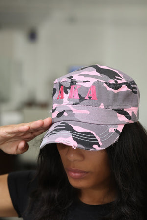 The Pretty Cadet cap, pink camouflage