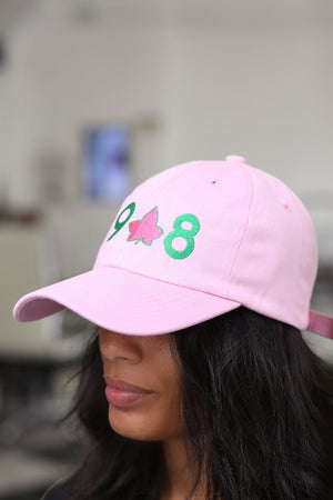 19-IVY-8 polo dad hat, pink