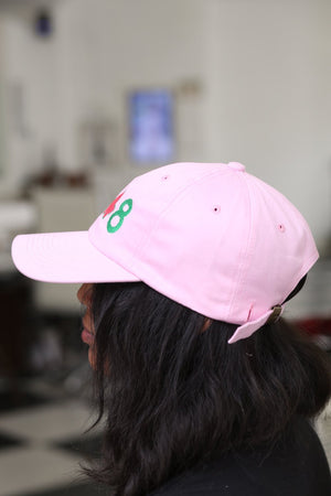 19-IVY-8 polo dad cap, pink