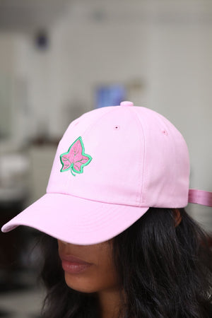 Strong and Lasting polo dad hat, pink