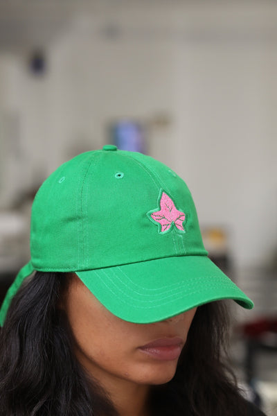 Strong and Lasting polo dad hat, green