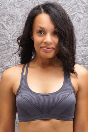 Feeling Alive sports bra, grey