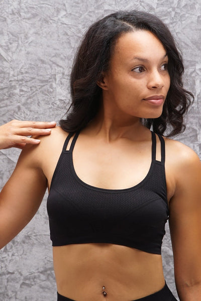Feeling Alive sports bra, black