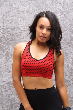 Connected sports bra, red