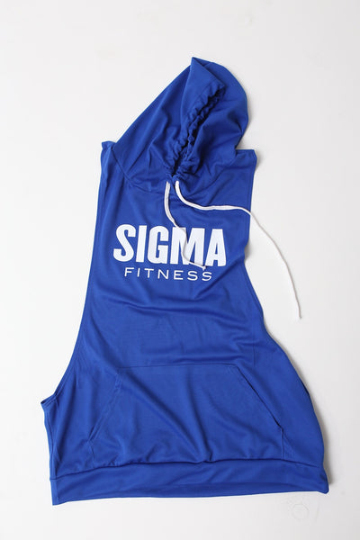 Excuse My Back Sigma stringer tank hoodie, blue