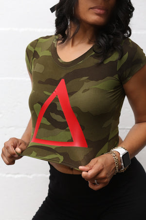 Delta Force v1 crop fitness tee