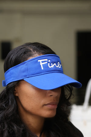 Finer visor, blue