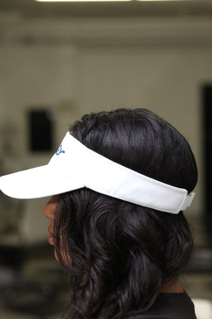 Finer visor, white
