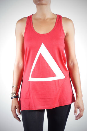 Big Delta workout oversized tank, red