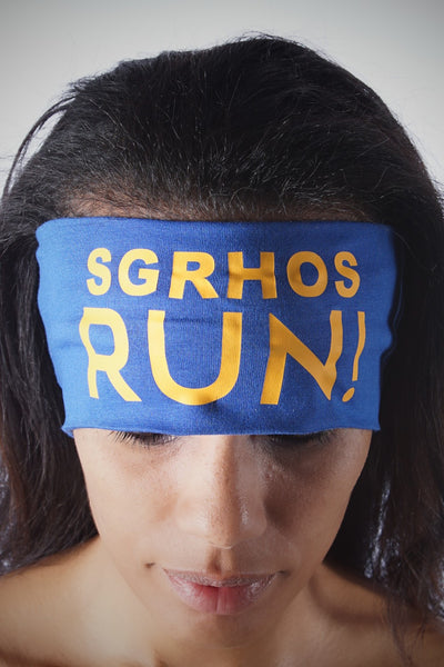 SGRHOs RUN Bondi Band extra-wide, blue/gold