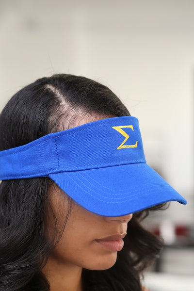Σ visor, blue/gold