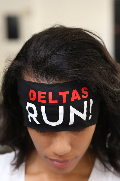 DELTAS RUN Bondi Band extra-wide, black