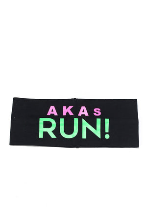 AKAs RUN Bondi Band extra-wide, black