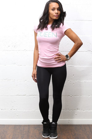 Queen Pink workout tee