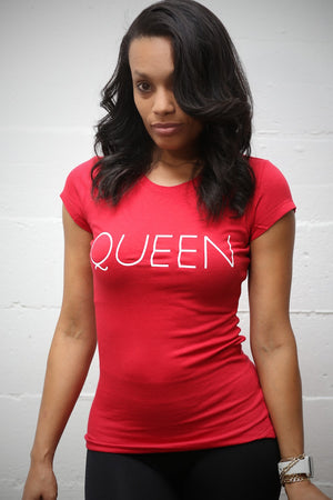 Queen Red workout tee