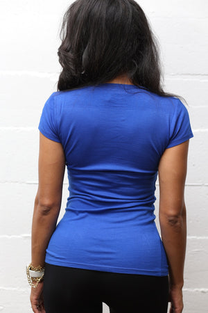 Queen Royal Blue workout tee