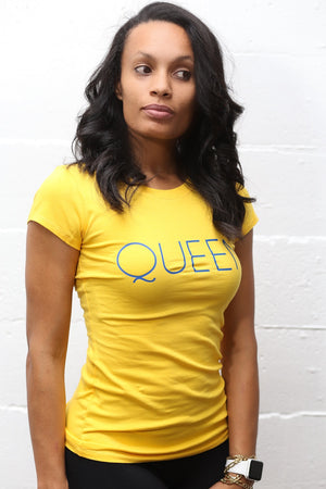 Queen Gold workout tee