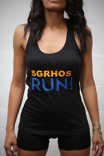 SGRhos RUN racerback tank, black