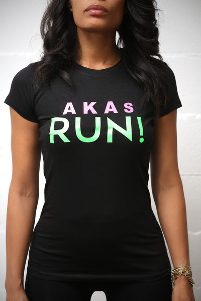 AKAs RUN workout tee, black