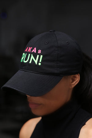 AKAs RUN polo dad hat, black