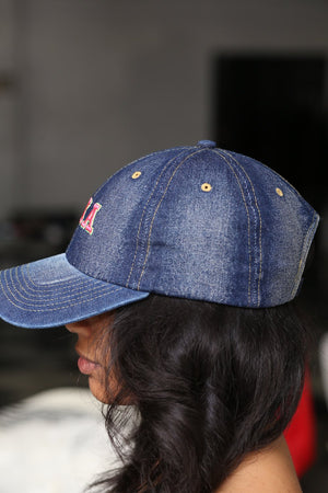 My ΑΚΑ Jeans polo dad hat, dark denim
