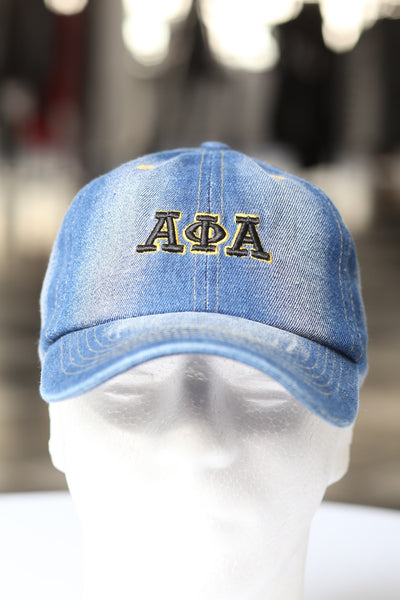 My ΑΦΑ Jeans polo dad hat, light denim