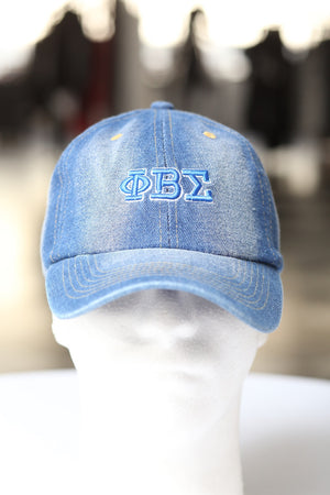 My ΦΒΣ Jeans polo dad hat, light denim