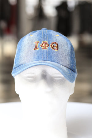 My ΙΦΘ Jeans polo dad hat, light denim