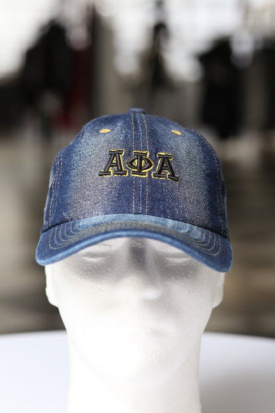 My ΑΦΑ Jeans polo dad hat, dark denim