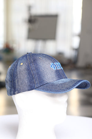 My ΦΒΣ Jeans polo dad hat, dark denim