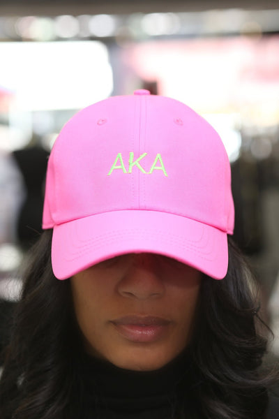 to the point! AKA polo dad hat, hot pink
