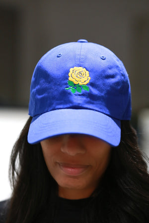Tea Rose polo dad hat, blue