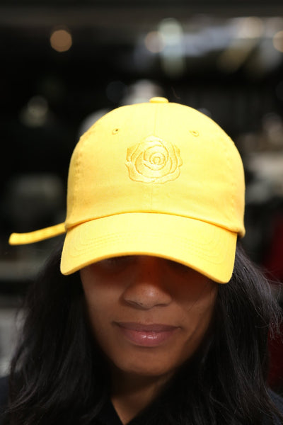 Golden Girl polo dad hat, gold