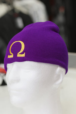 Ω skullie beanie, purple